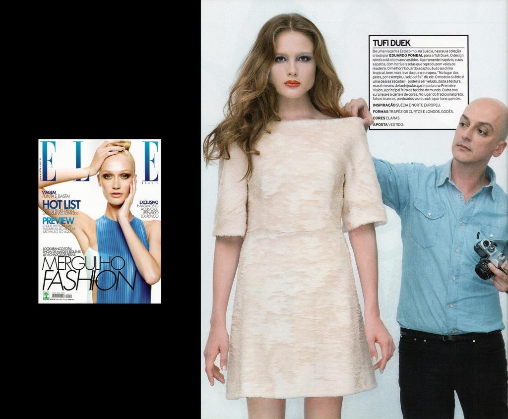 Revista Elle jan2011 - Preview coleções inverno 2011 - Design: Eduardo Pombal / Modelagem: Christian Monteiro